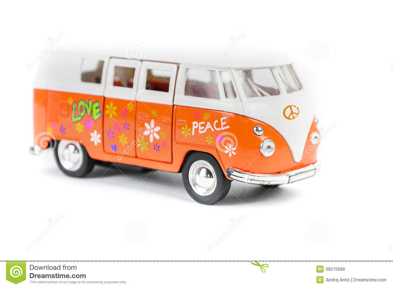 Mr White Koper Rétro Fourgon Hippie Illustration Stock Image 39275999