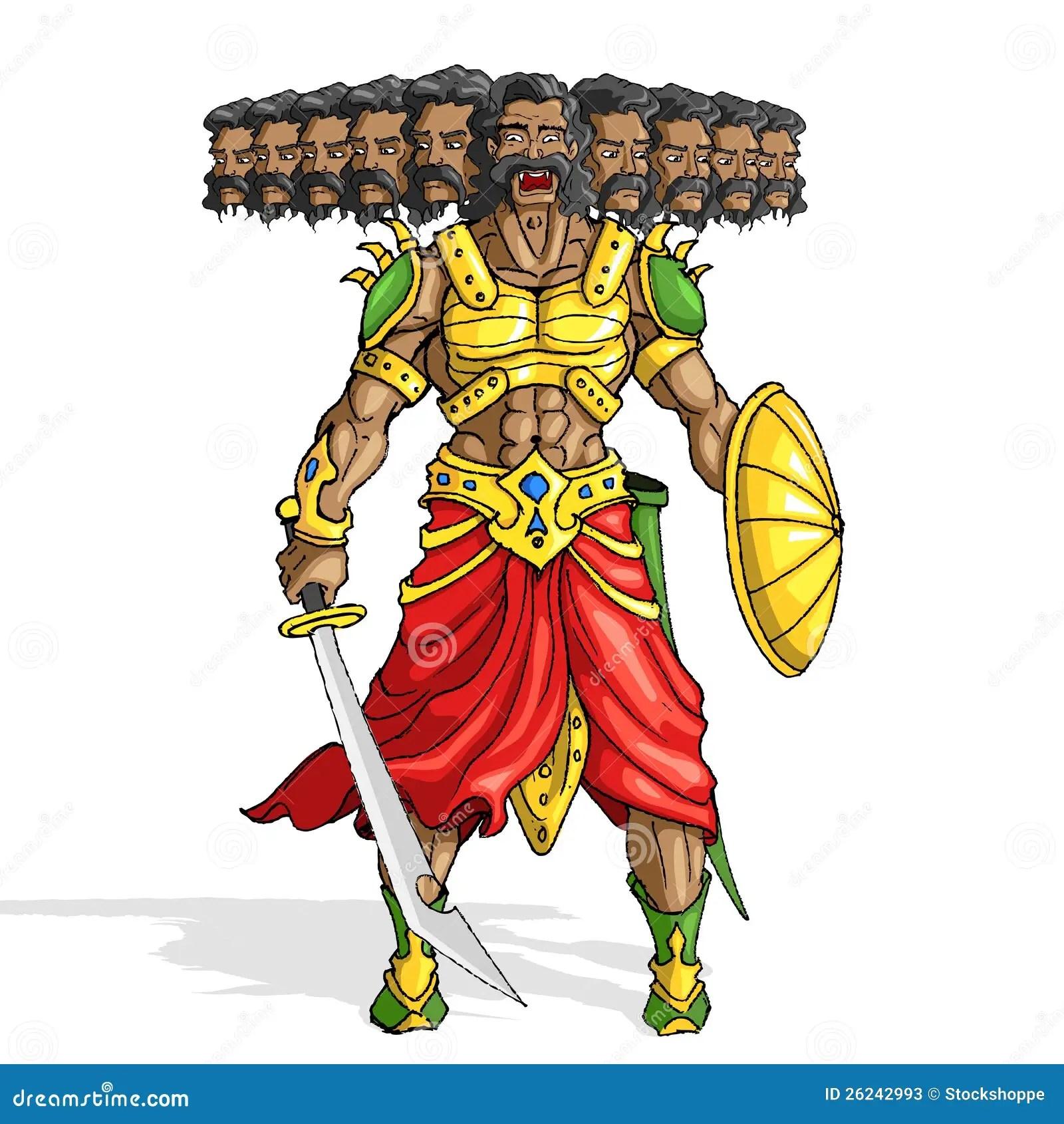 Ravan 3d Wallpaper Raavana With Ten Heads Stock Photos Image 26242993