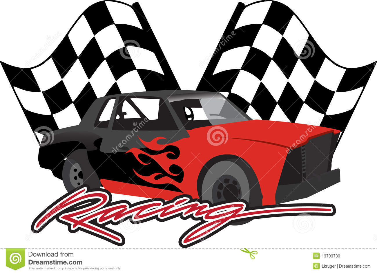 Checkered Flag Cars Nascar Wallpaper Border Race Car With Checkered Flags Stock Photo Image 13703730
