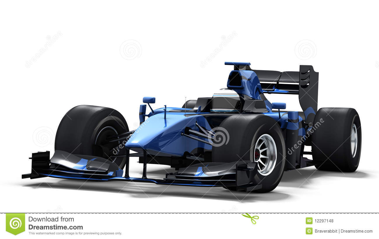 Formula 1 One Race Car Wallpaper Bright Race Car On White Black Amp Blue Stock Illustration