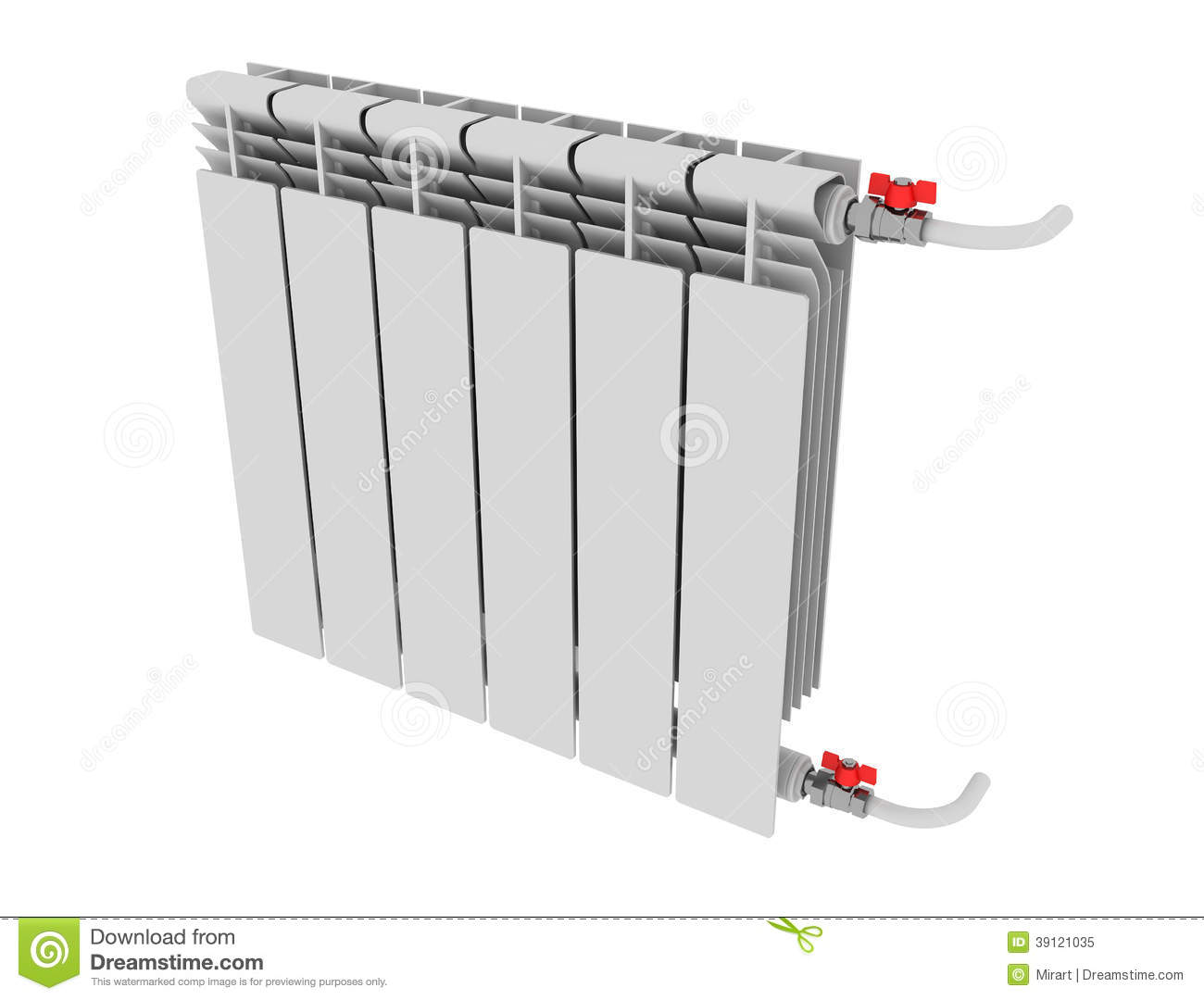 Radiateur De Chauffage Radiateur De Chauffage Avec Le Thermostat D Isolement Illustration