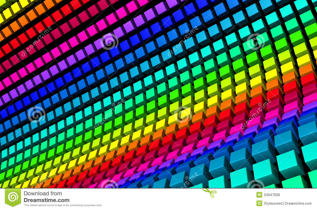 Cubes 3d Wallpaper Rainbow Color Cubes Royalty Free Stock Image Image 34947636