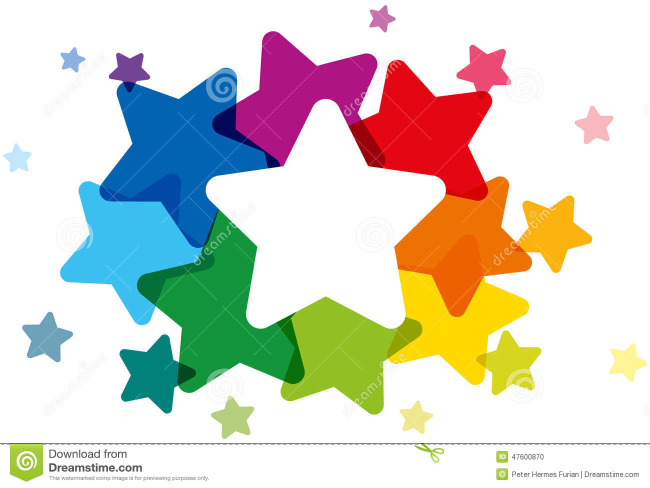 Cute Wallpapers We Heart Rainbow Colored Stars Stock Vector Image 47600870