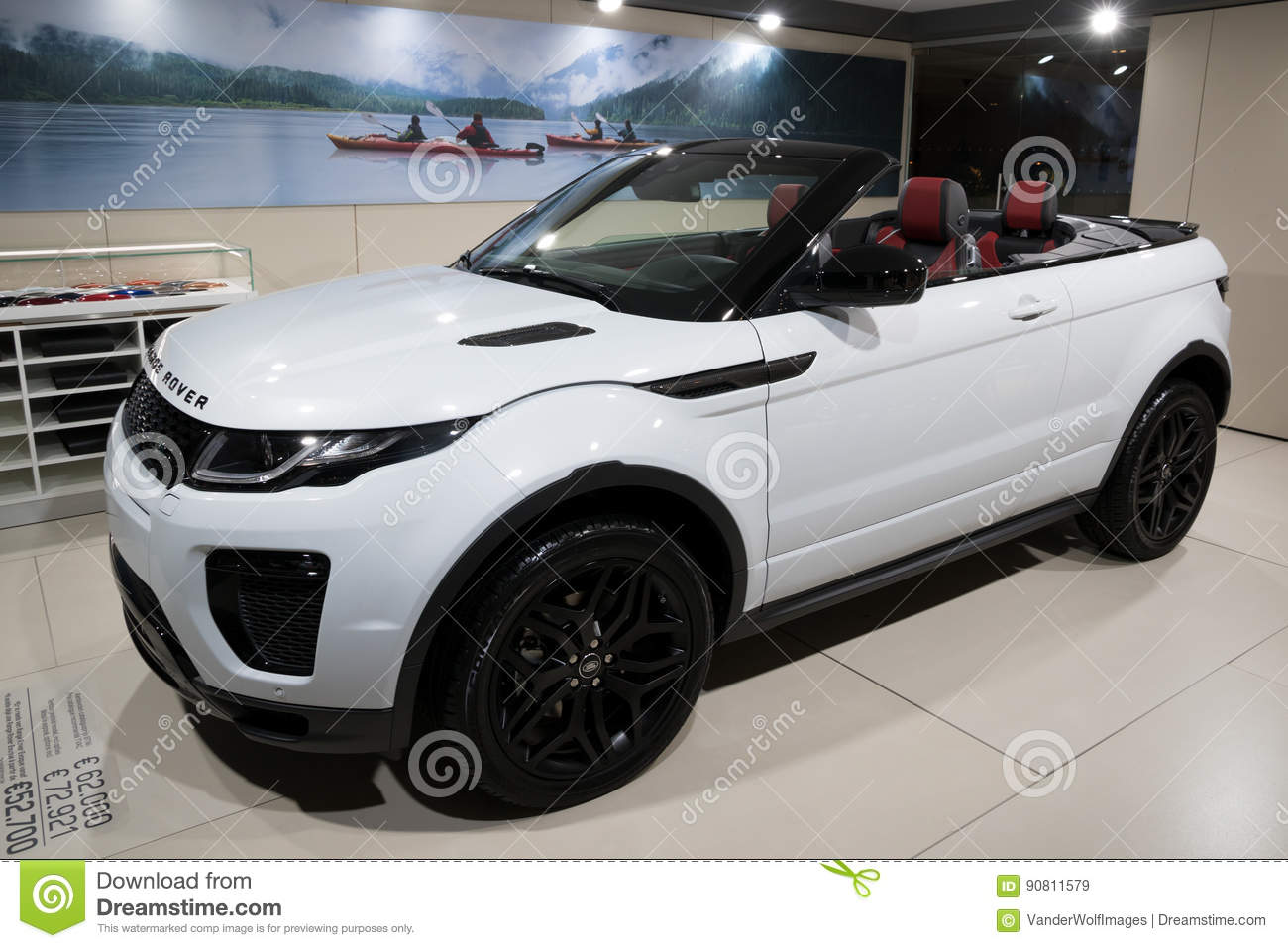 Salon Convertible Range Rover Evoque Convertible Car Editorial Stock Image Image