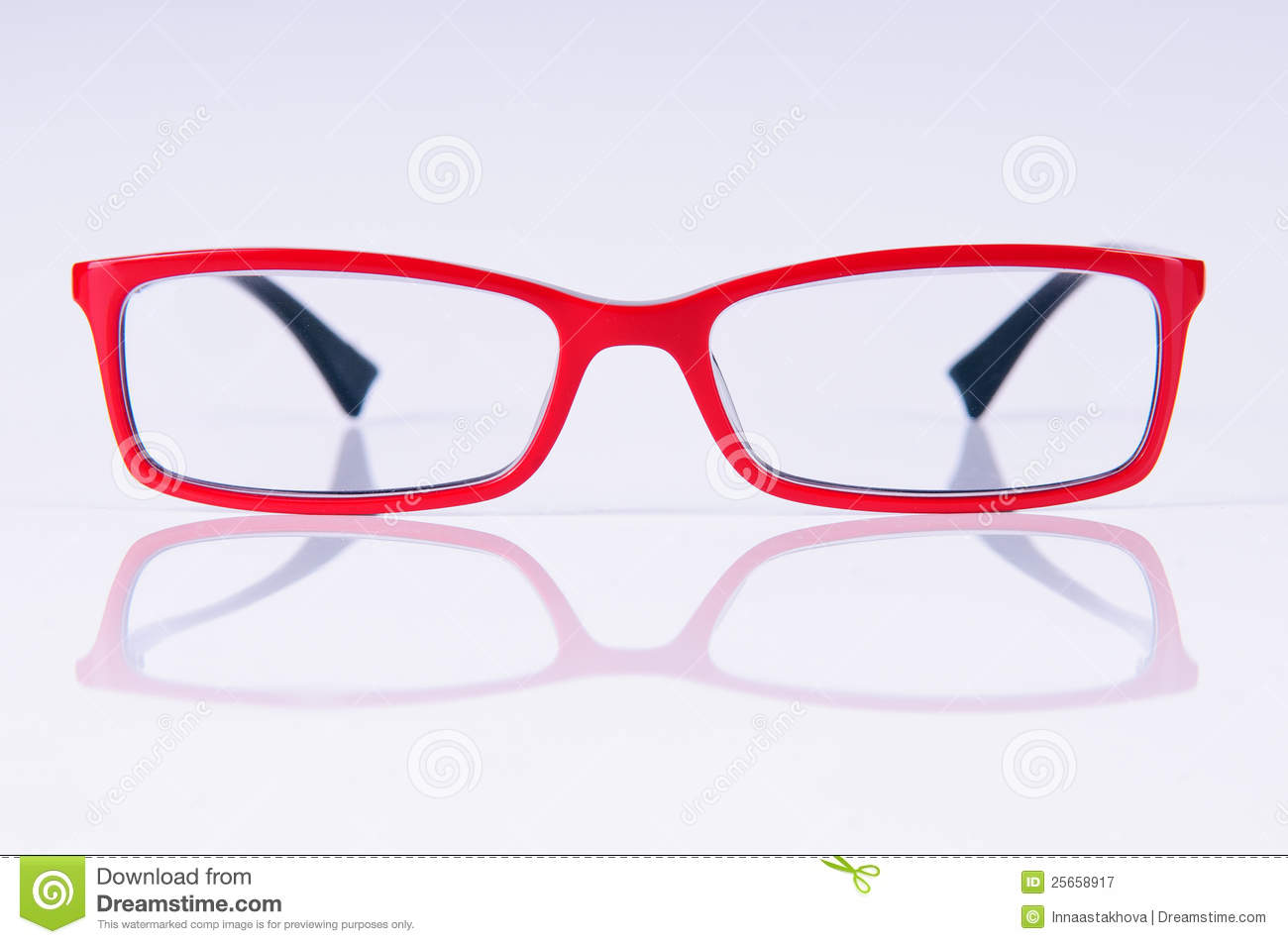 Gläser Rot Reading Red Glasses Royalty Free Stock Photography - Image