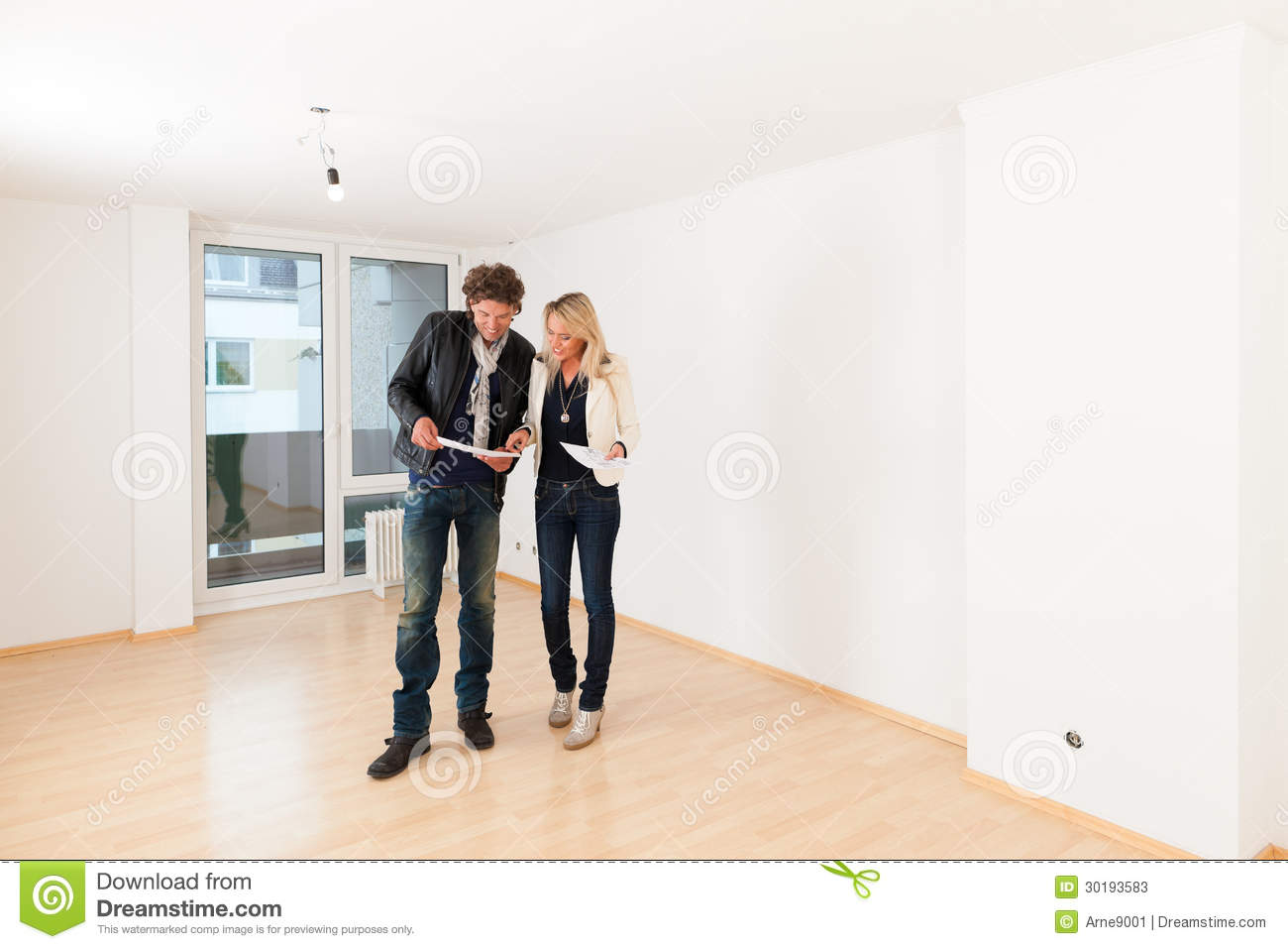 Couple Apartments Young Couple Looking For Real Estate Stock Photos Image
