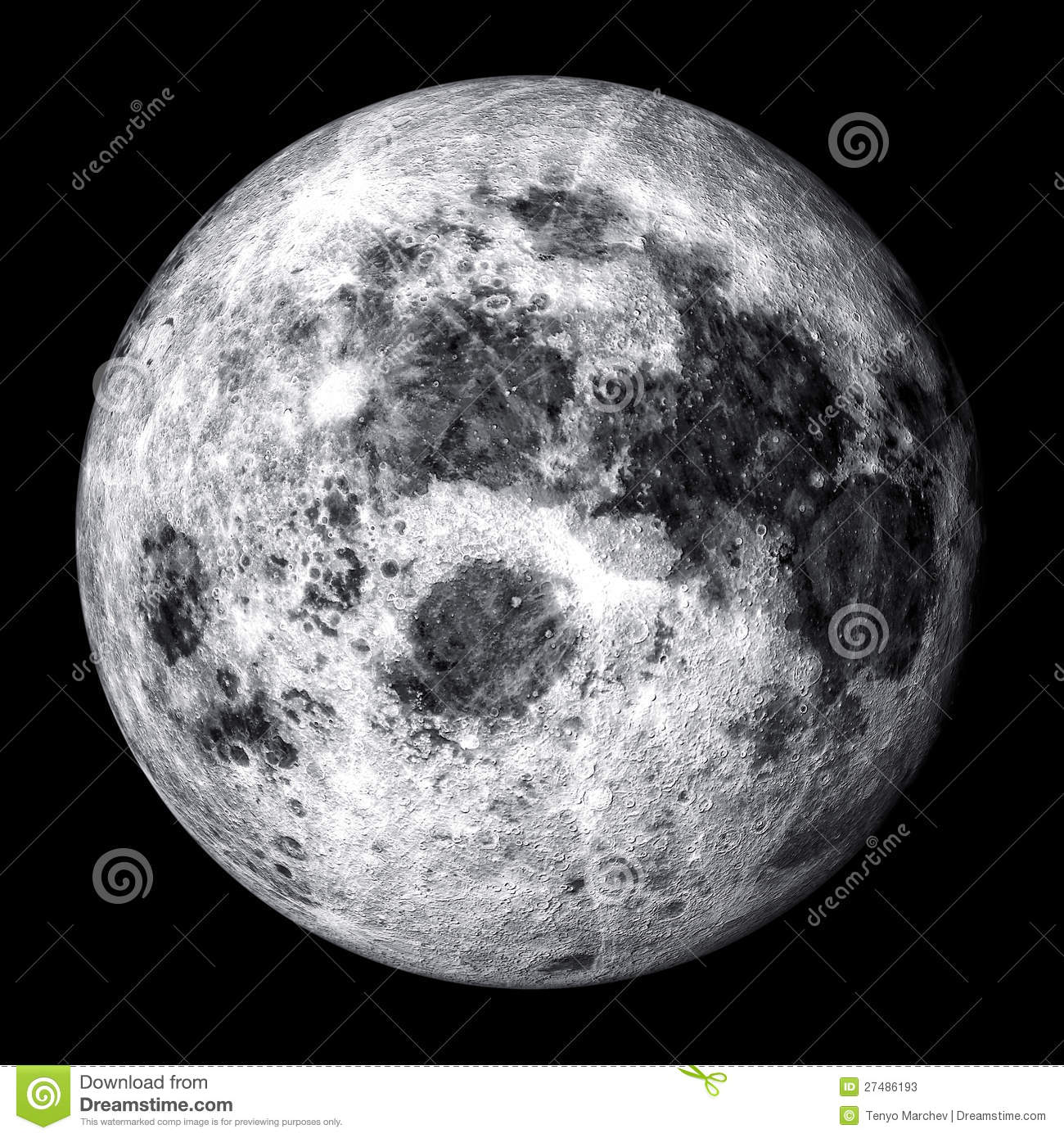 Full Moon Drawing Black And White Realistic Full Moon Stock Photos Image 27486193