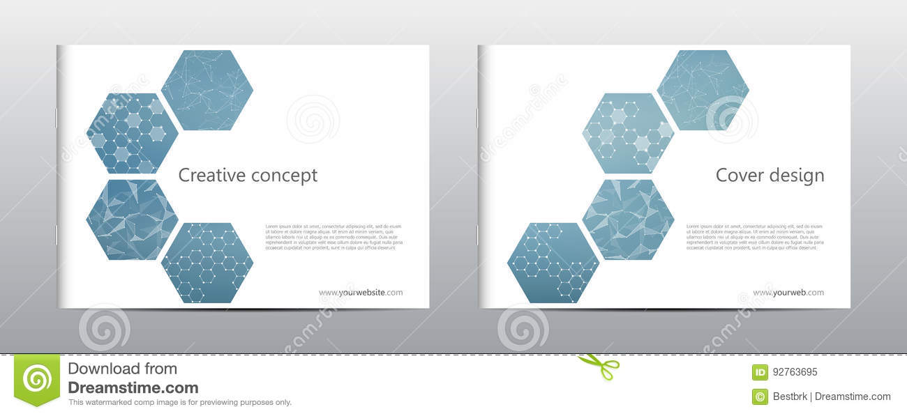 Rectangle Brochure Template Layout, Cover, Annual Report, Magazine