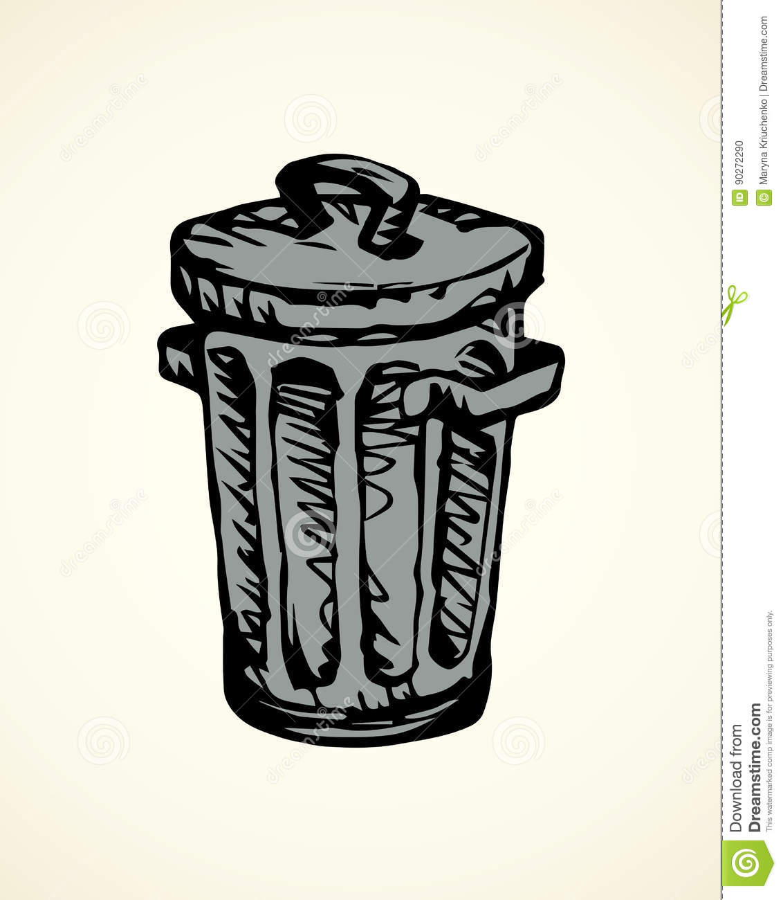 Cool Wastebaskets Cartoon Trash Dumpster Cartoons Illustrations And Vector