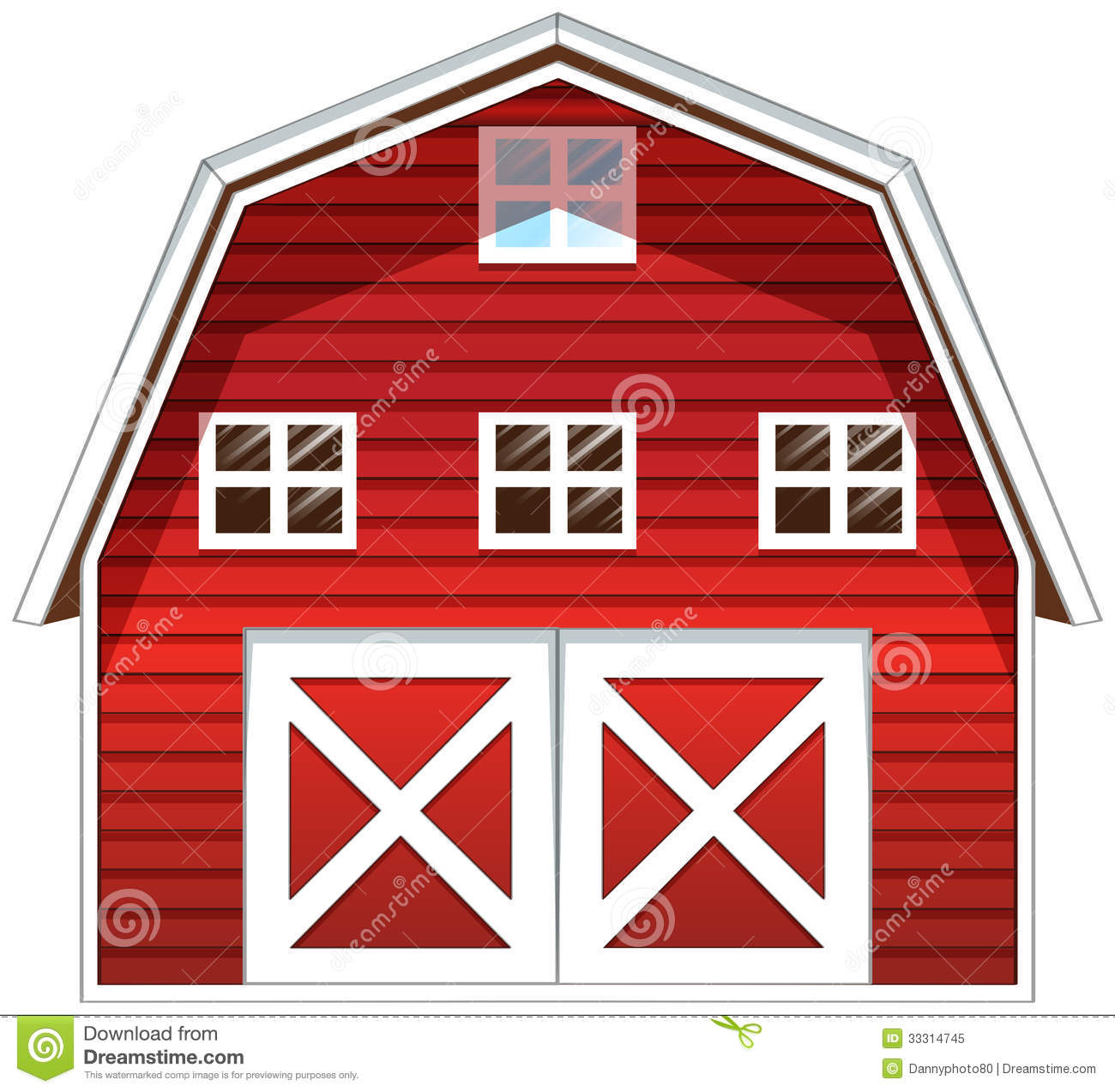 Red Farmhouse Drawing A Red Barn House Stock Illustration Illustration Of Farm