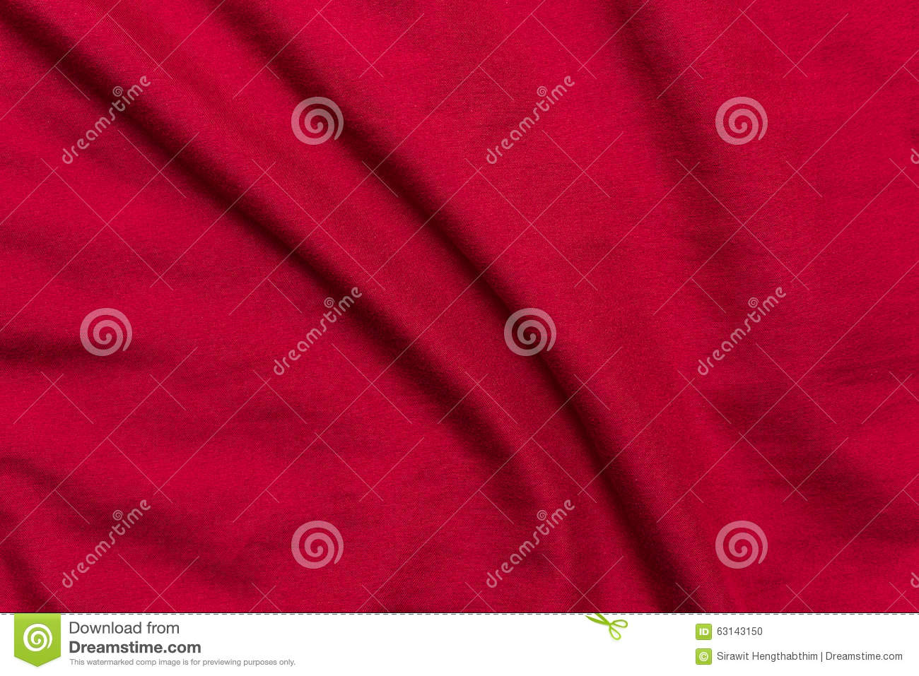 Red bed sheets background texture