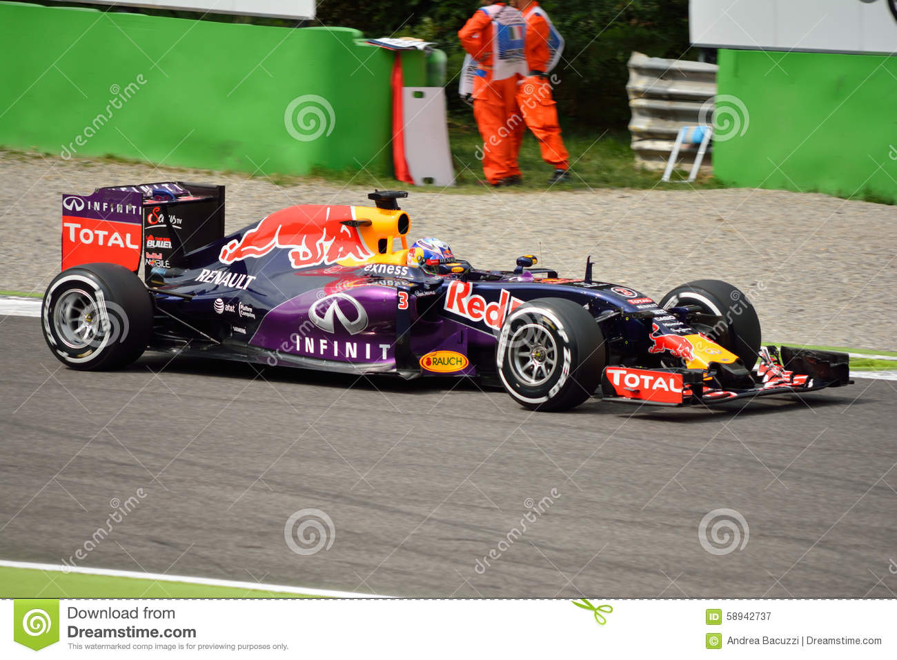 Red Bull Rb11 Red Bull Rb11 F1 Driven By Daniel Ricciardo At Monza Editorial