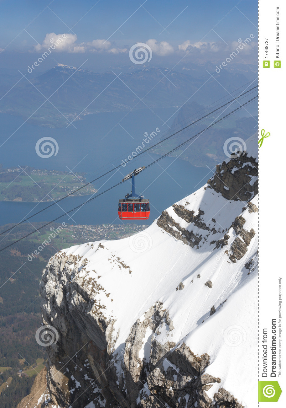 Audio Car Wallpaper Download Red Cable Car Lake Lucerne And Swiss Alps Stock Image