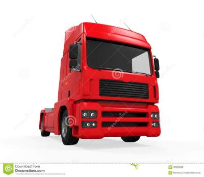 Red Cargo Delivery Truck Royalty Free Stock Photos - Image: 38506088