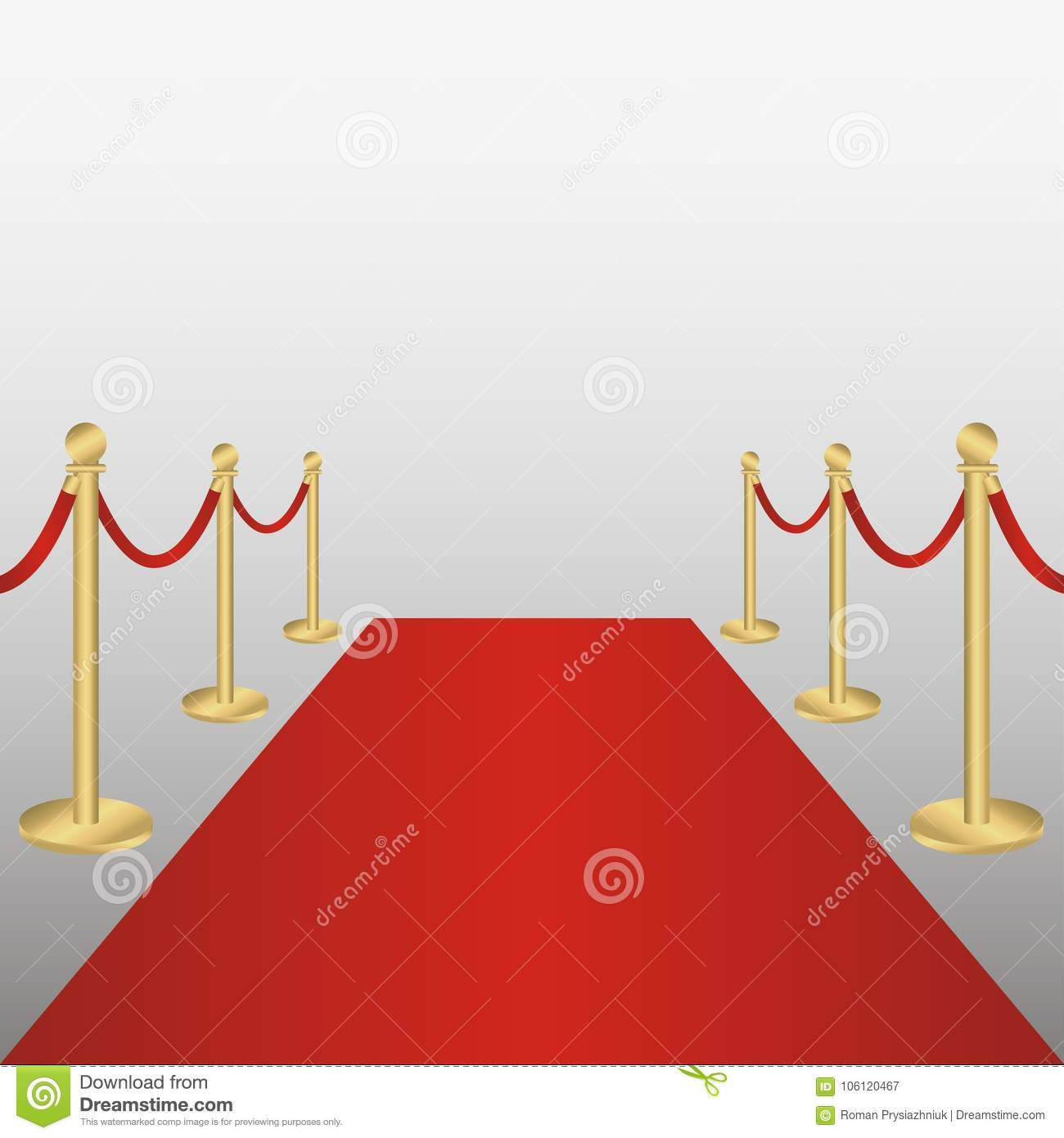 Roter Teppich Vip Red Carpet Red Carpet With Gold Barriers Rope Corridor For Vip Persons