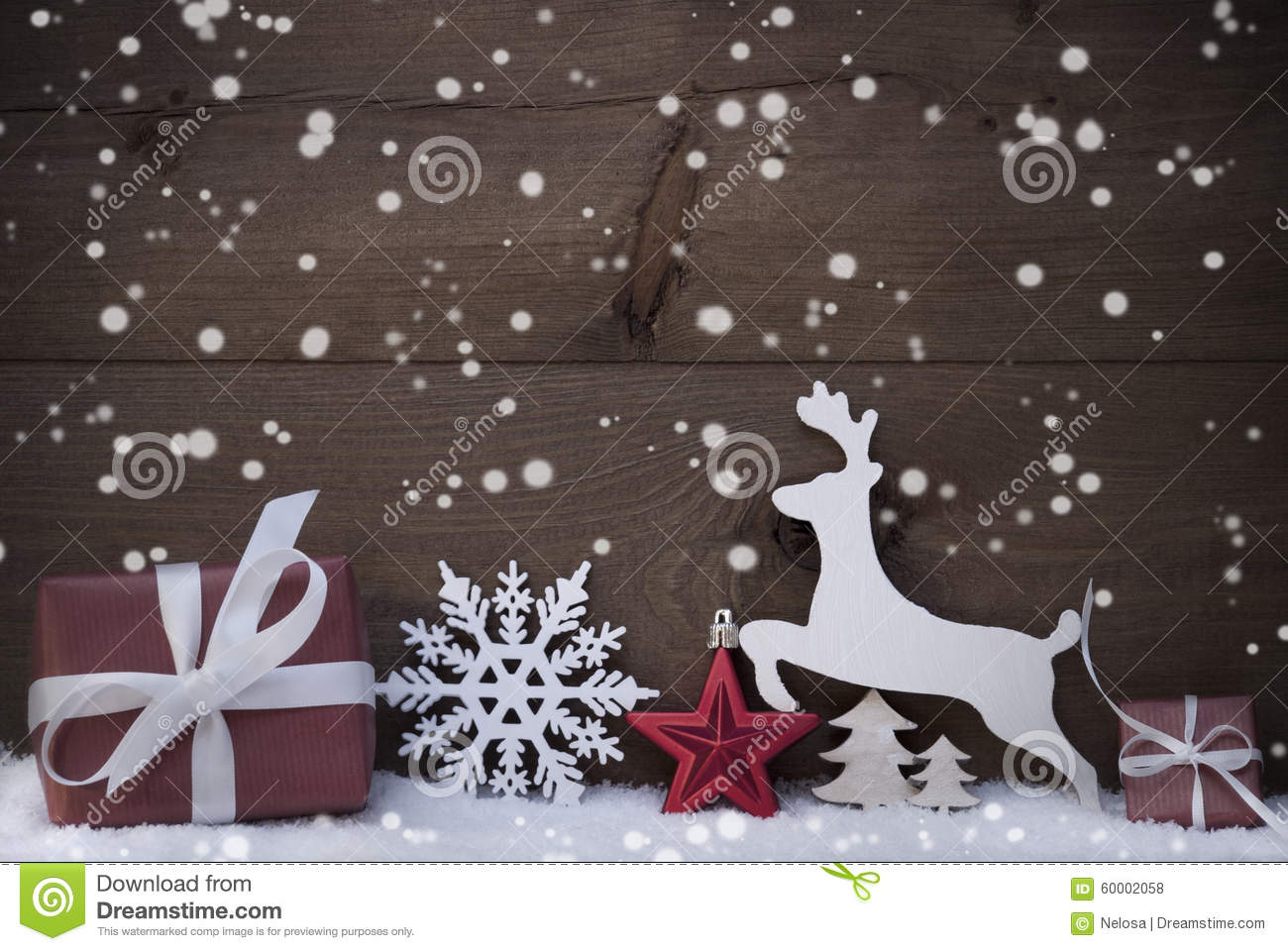 snow decoration