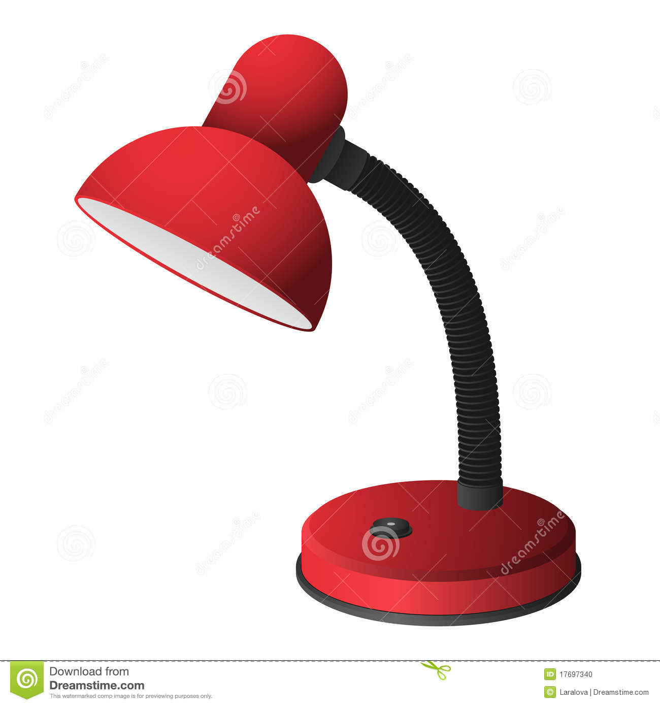 Red Light Reading Lamp Red Desk Lamp Stock Vector Image Of Illustration Design
