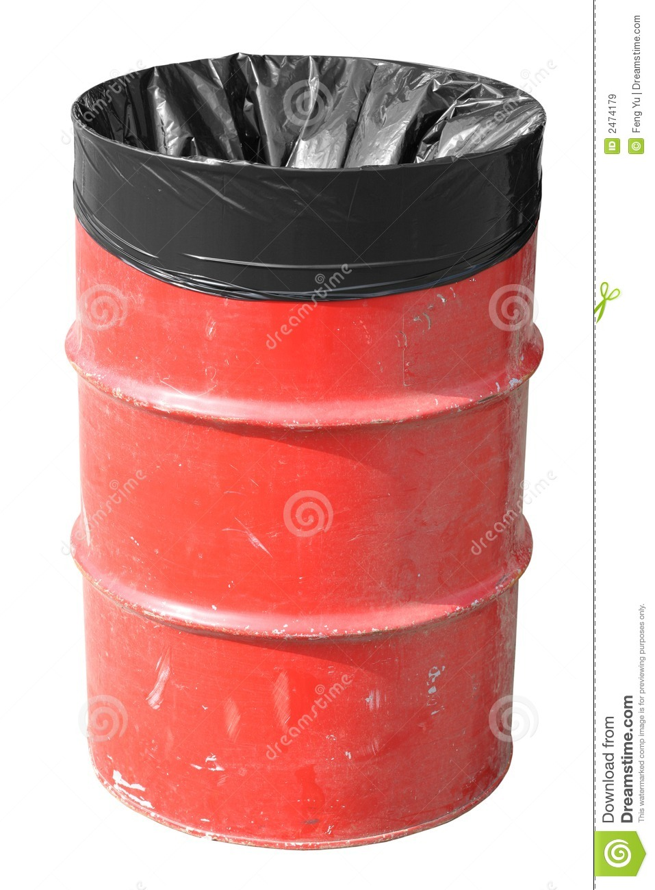 Trash Can Red Garbage Can Royalty Free Stock Images - Image: 2474179