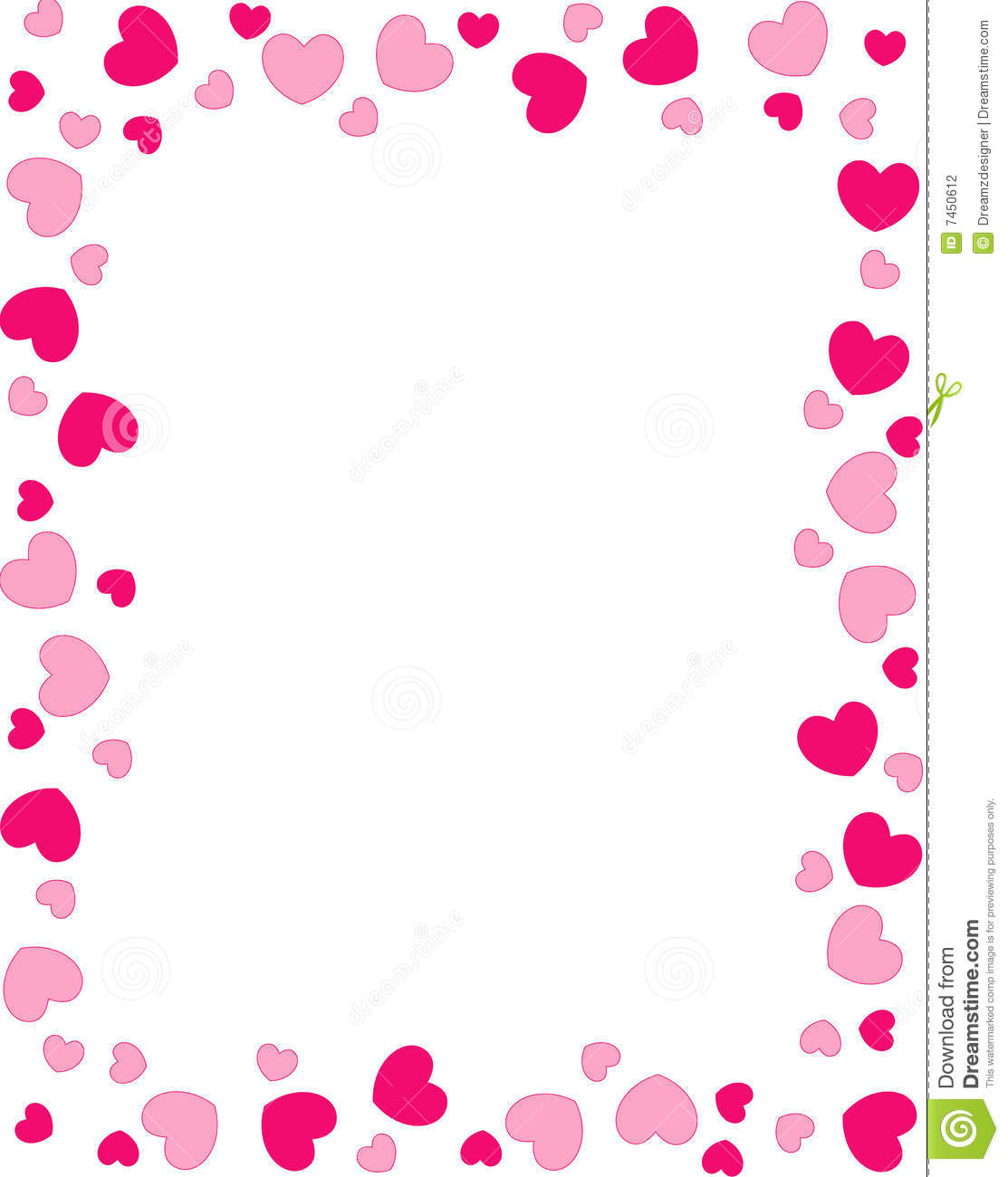 Baby Girl Wallpaper Borders Pink And Purple Red Hearts Border Stock Vector Illustration Of Inviting