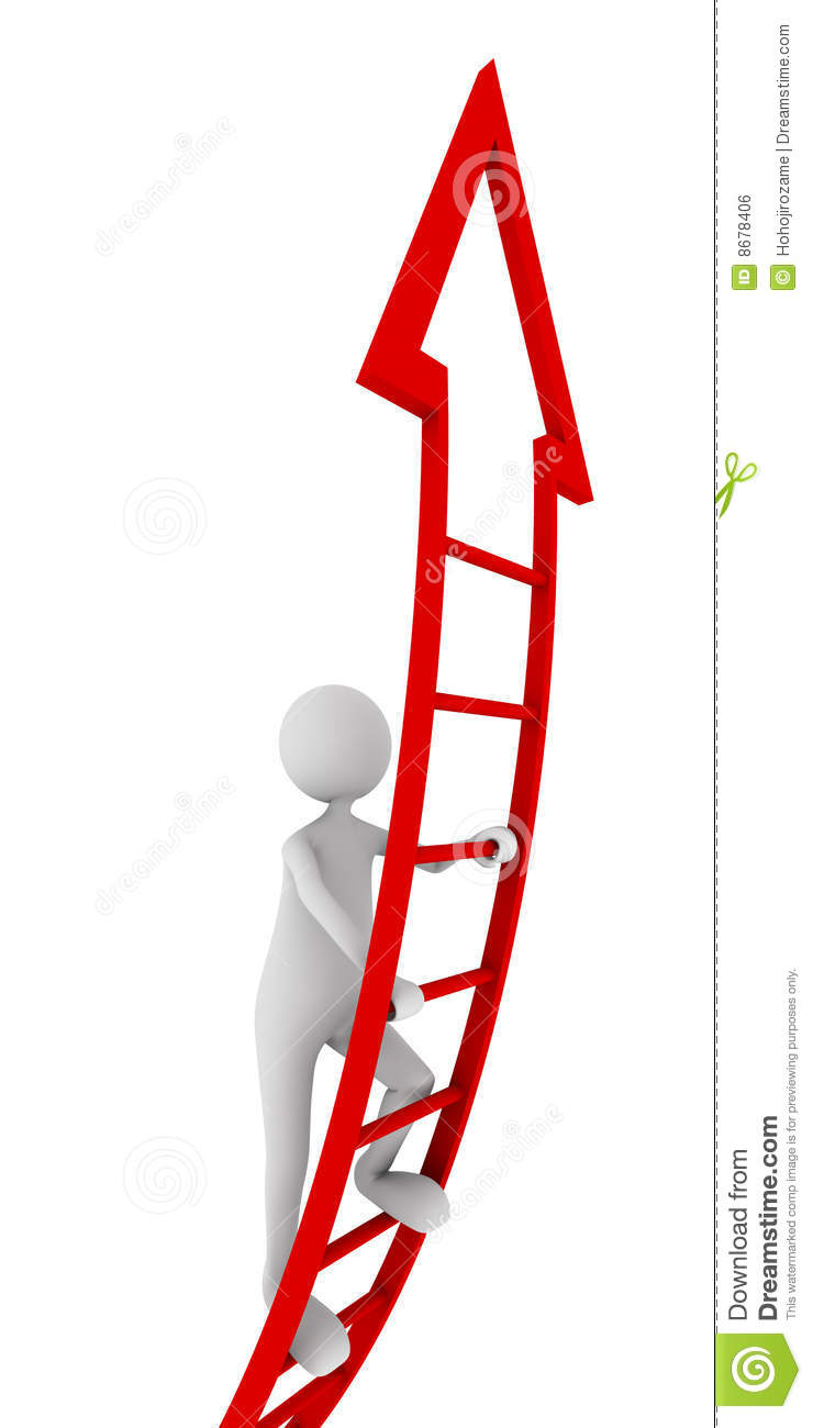 Red Ladder Of Success Royalty Free Stock Image Image