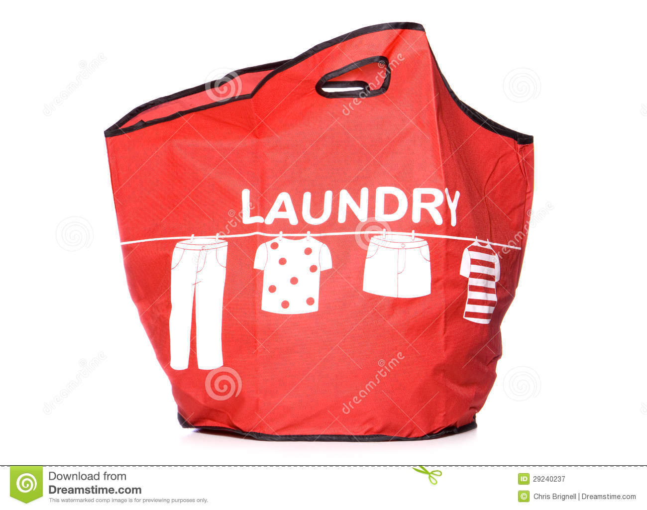 Carry Laundry Bag Red Laundry Carry Bag Cut Out Royalty Free Stock