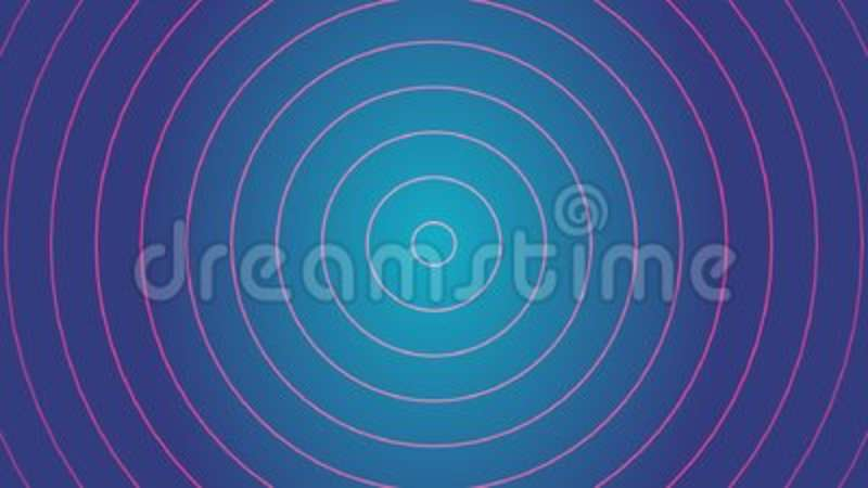 Red Radio Signal Effect And Blue Background Animation And Motion - animation circles