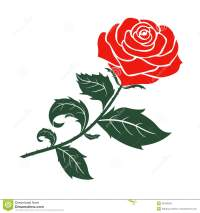 Red rose vector design stock vector. Illustration of