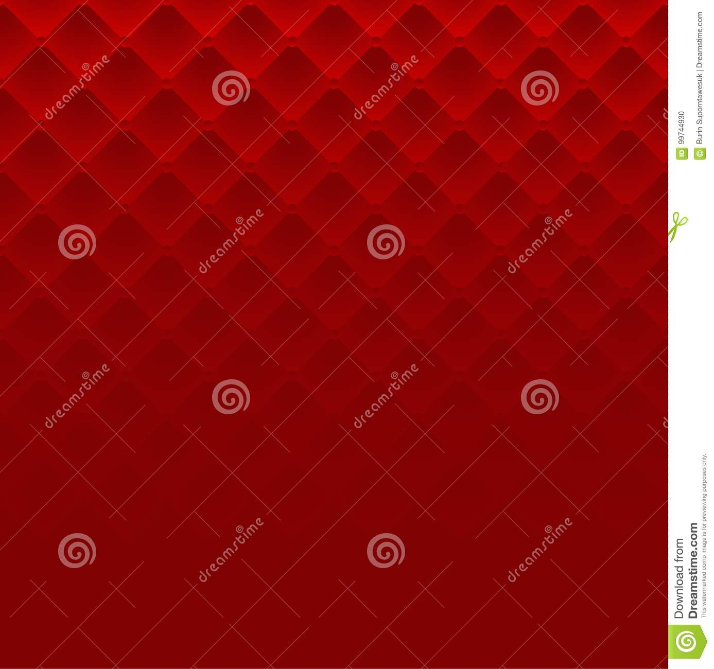 Sofa Texture Vector Red Square Luxury Pattern Sofa Texture Background Stock Vector