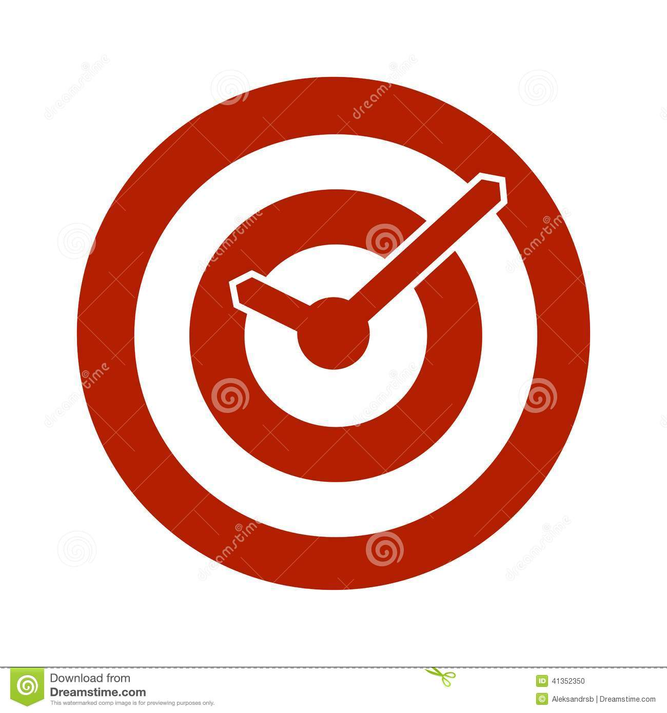 Alarm Clocks Target Red Target Conceptual Clock Icon Stock Vector Image