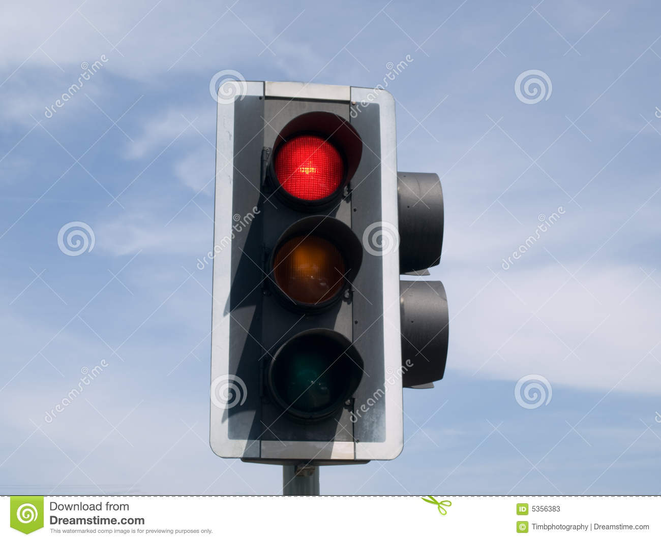 Red Light Reading Lamp Red Traffic Light Stock Photos Image 5356383