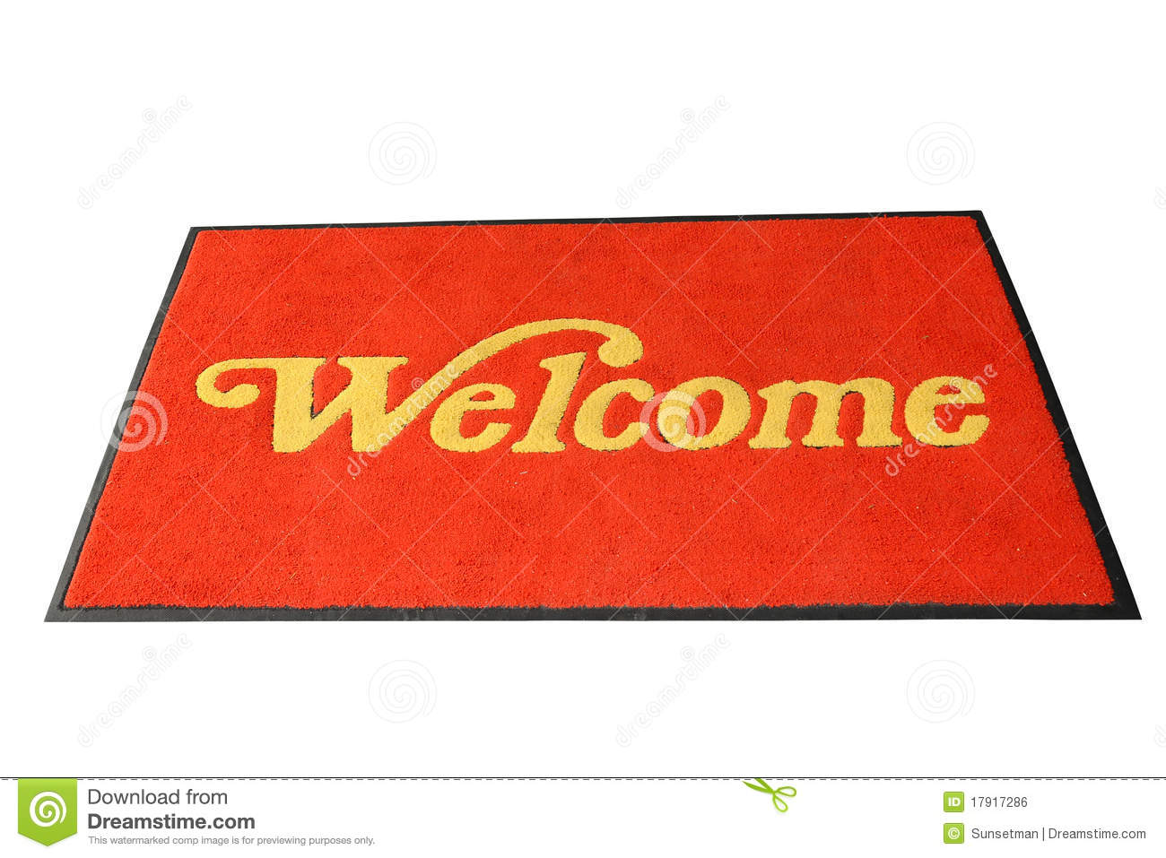 Leave Door Mats Red Welcome Mat Stock Photo Image Of Furnishings