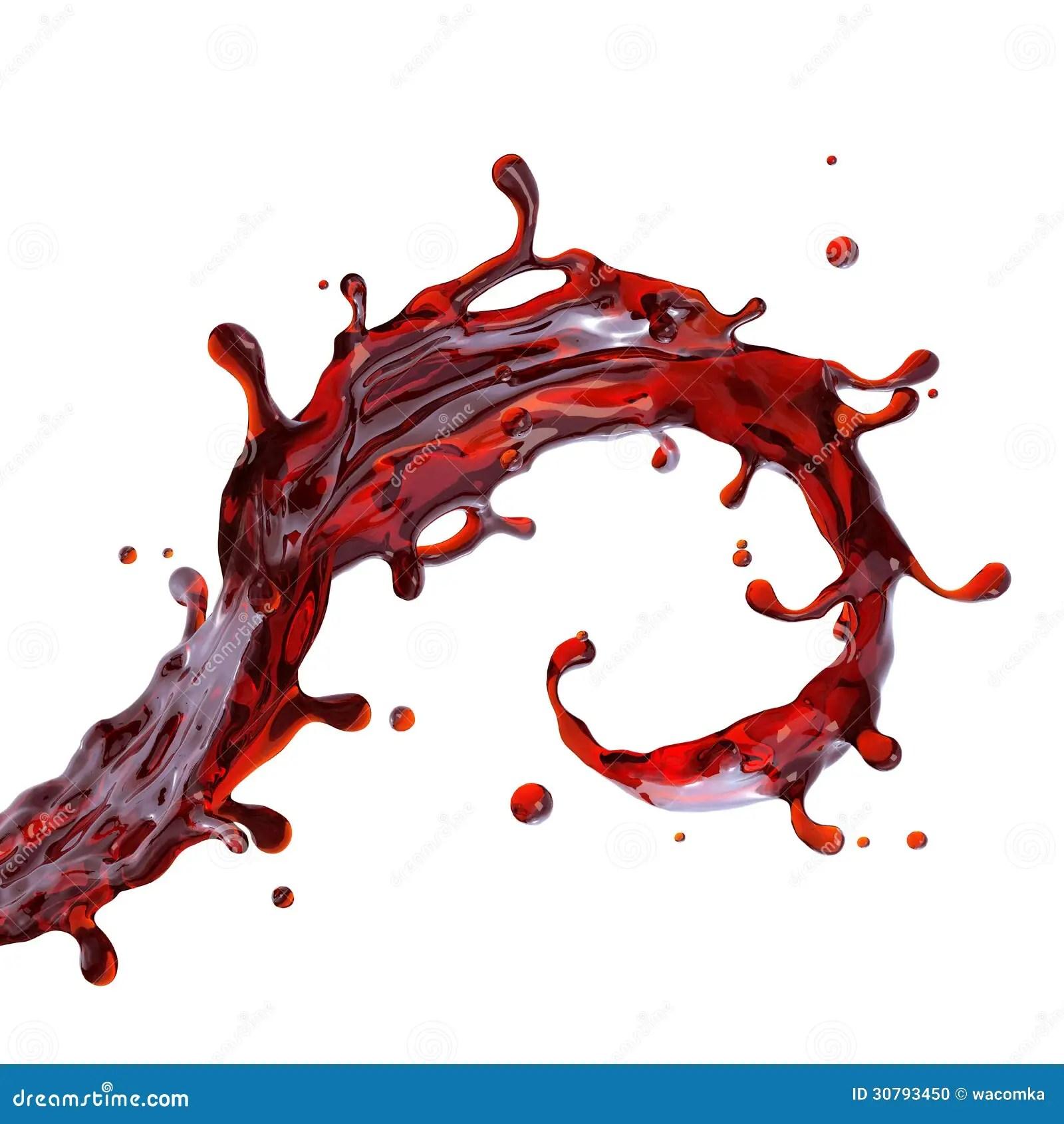 Paint Falling Wallpaper Red Wine Or Cherry Juice Drink Splash Stock Illustration