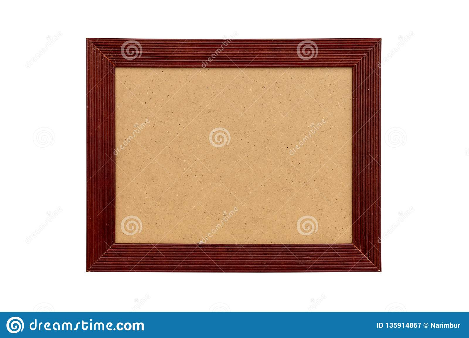 Foto Passepartout Red Wood Picture Frame With Passepartout Stock Image Image Of