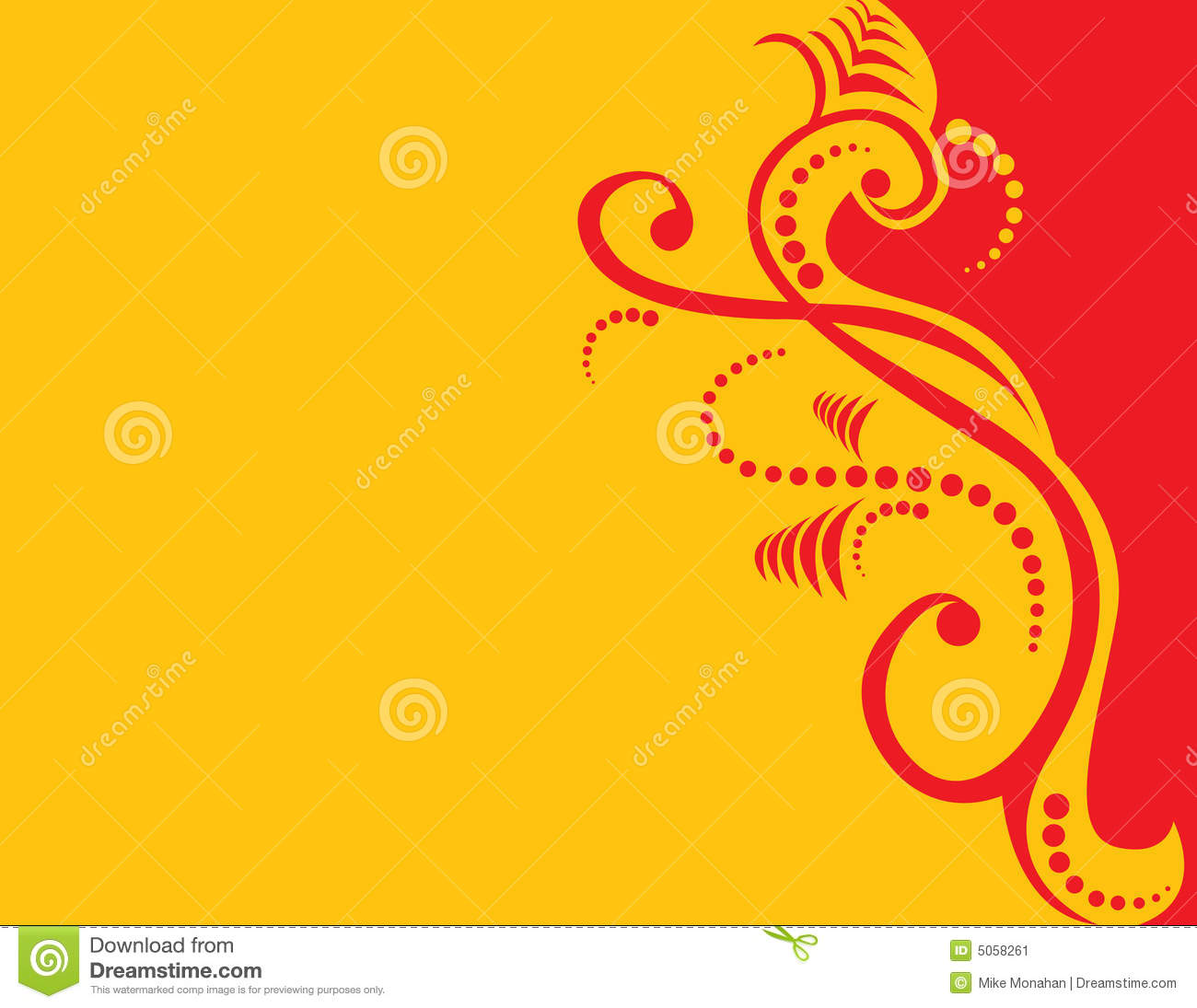 Red And Yellow Decor Red And Yellow Abstract Stock Vector Image Of Curve