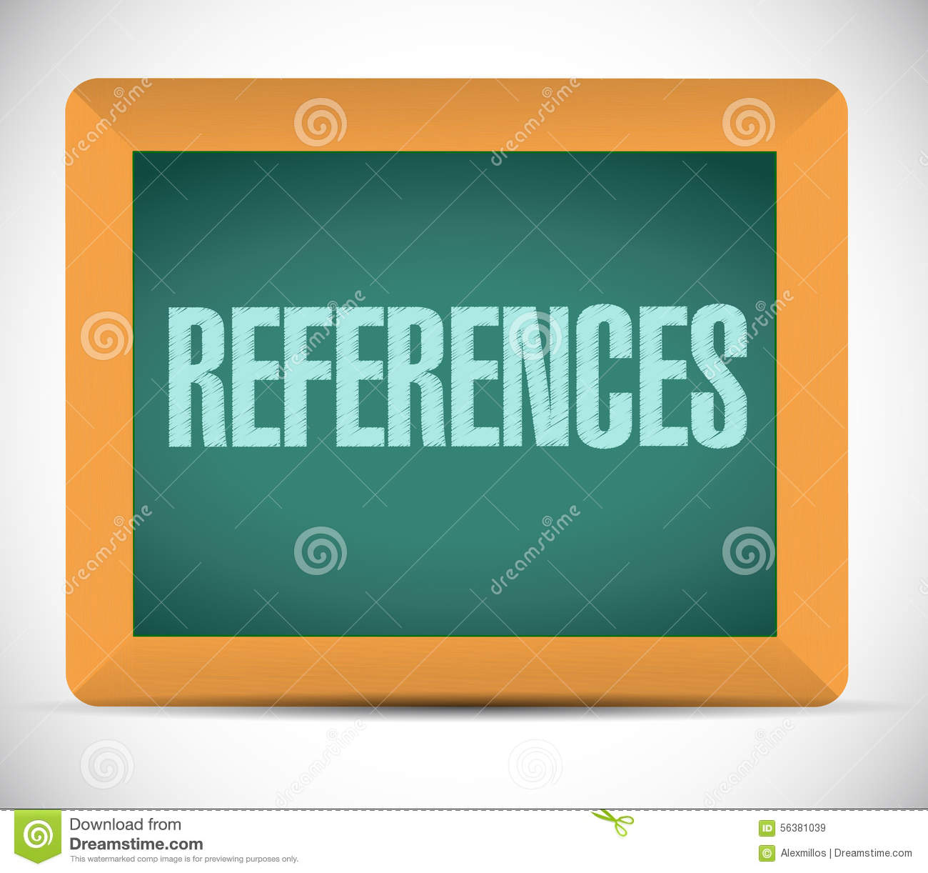 9 Key Elements Of A Good Reference Letter Careerusaorg References Chalkboard Sign Concept Stock Illustration