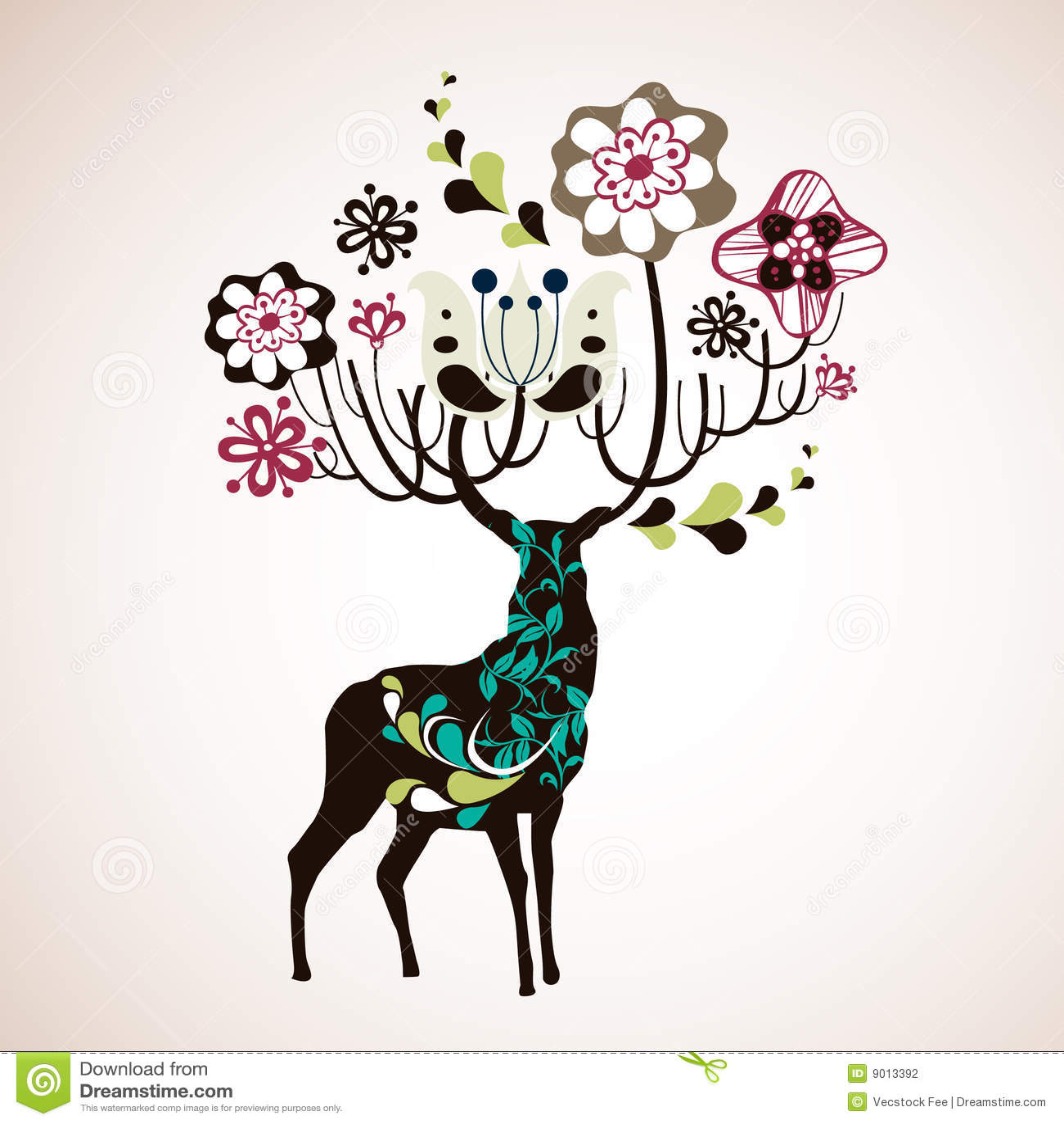 Cute Merry Christmas Wallpaper Backgrounds Reindeer Wallpaper Stock Vector Image Of Animal