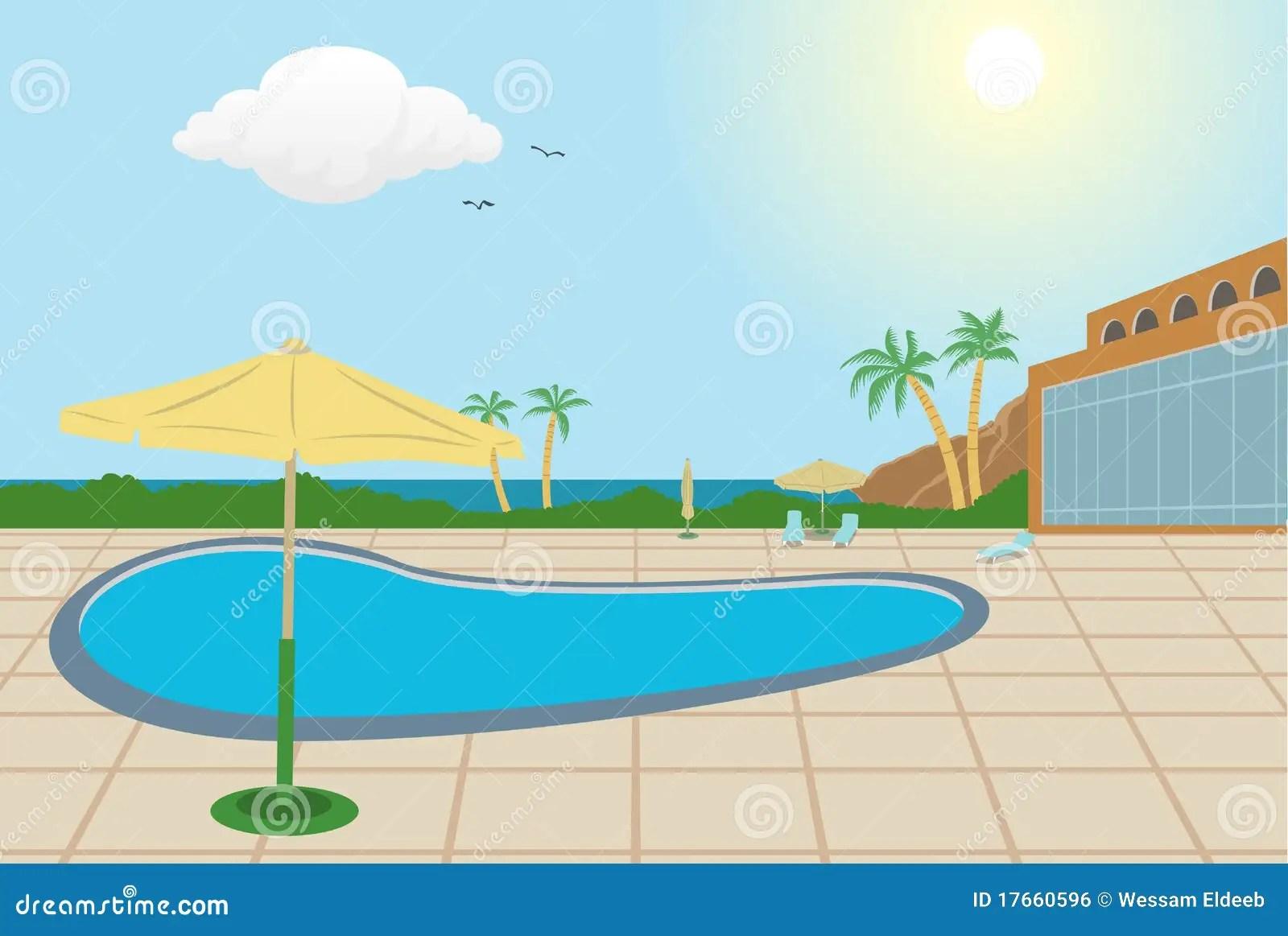 Resort Background Stock Vector Illustration Of Tree