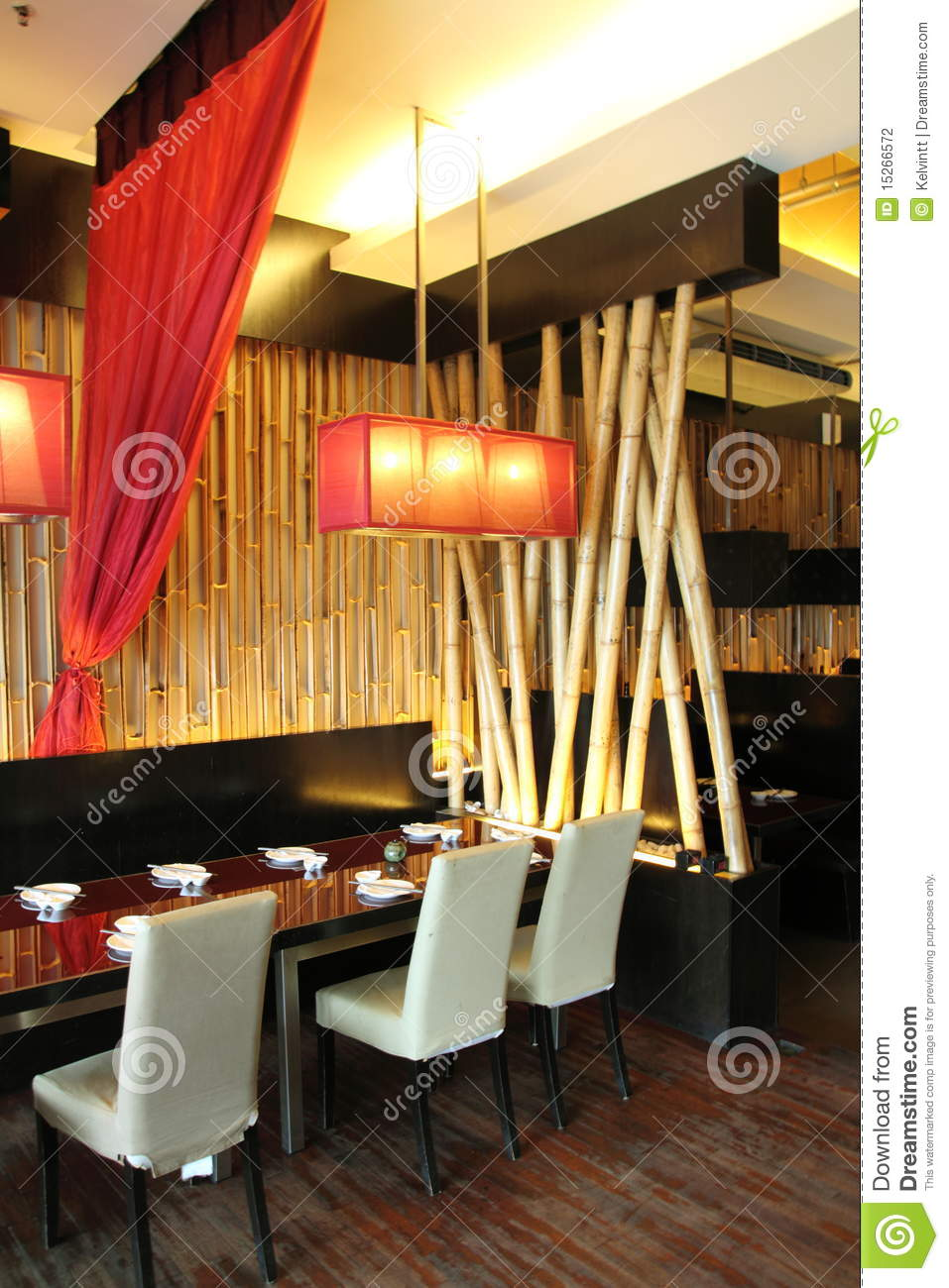 6 Chair Dining Table Restaurant Interior Design Stock Photography - Image: 15266572