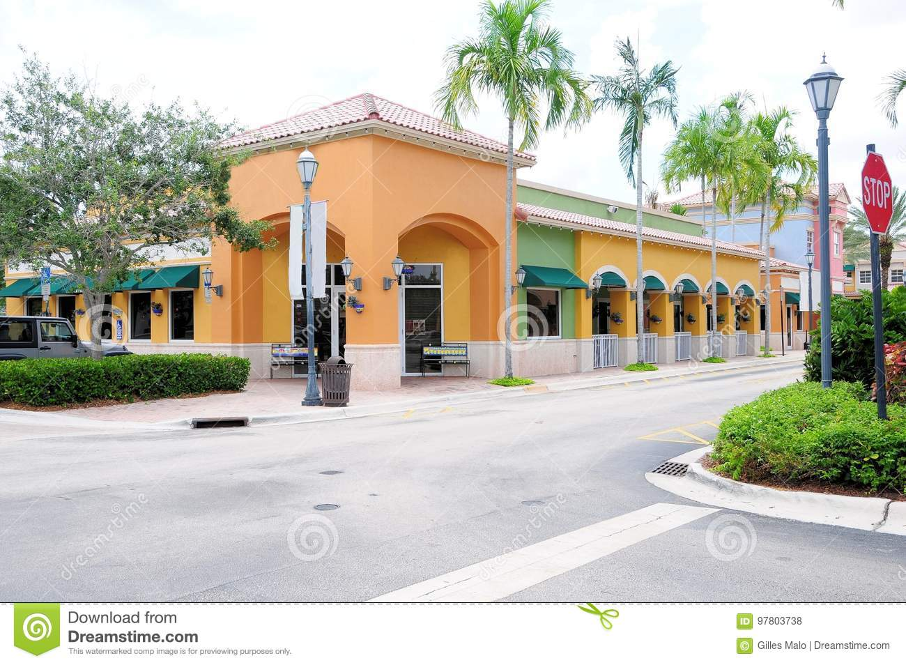 Resturant Stores Restaurant And Retail Stores Fl Stock Photo Image Of Paint
