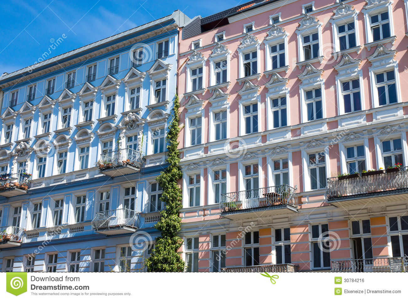 Restored Houses In Berlin Prenzlauer Berg Stock Photo - Home Berlin