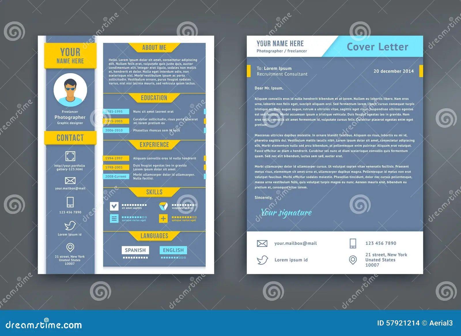 cv flat design template