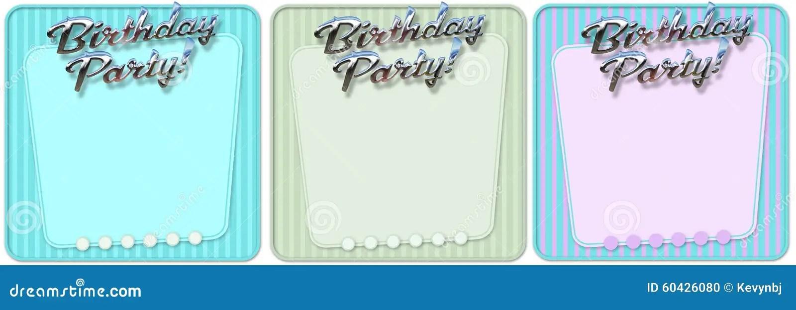 Birthday Party Invitation stock illustration Illustration of