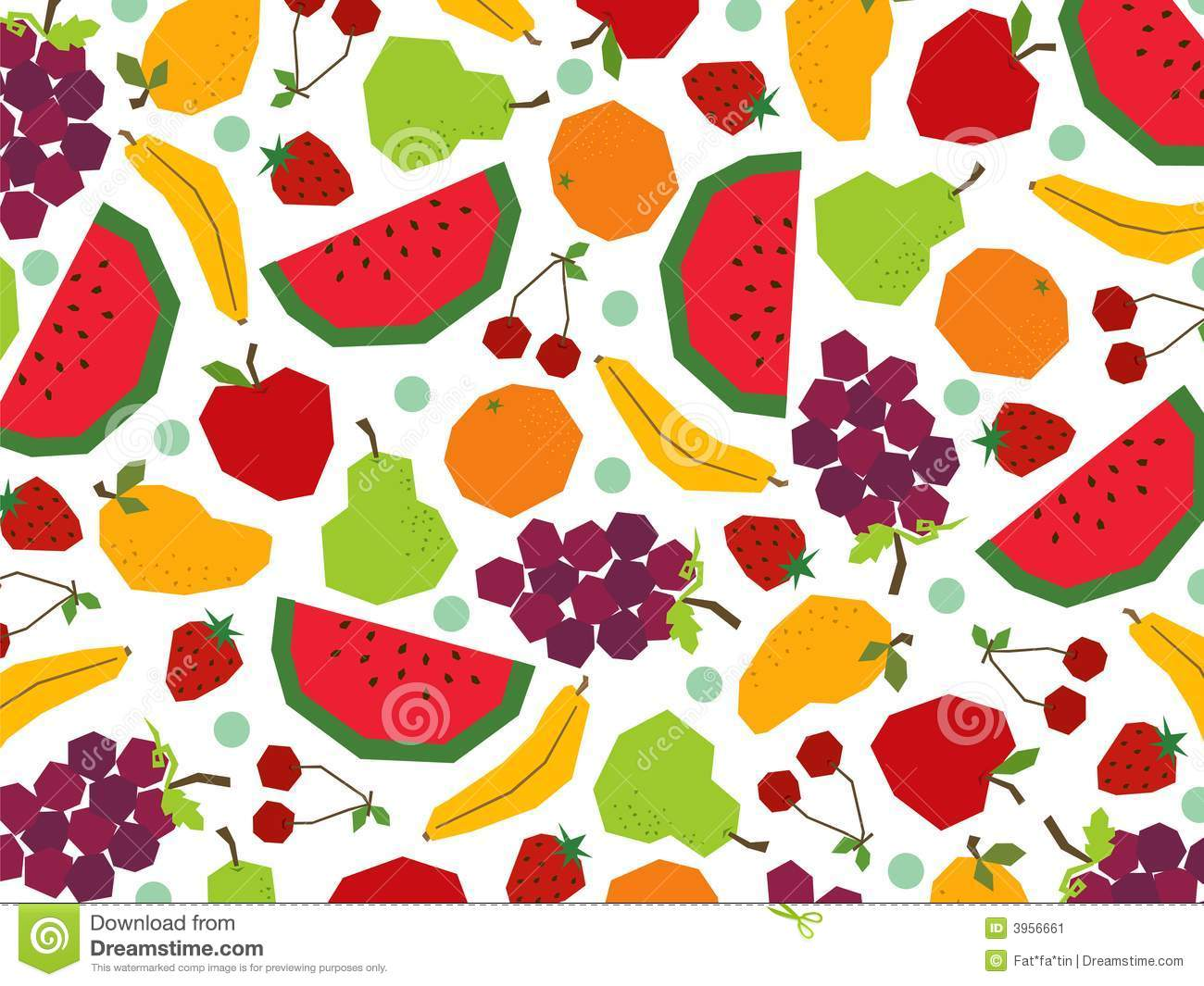 Cute Trendy Wallpapers Retro Papercut Fruits Stock Image Image 3956661