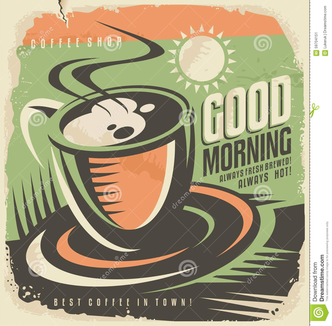 Kaffee Poster Poster Coffee Makes Me Happy Cartoon Vector