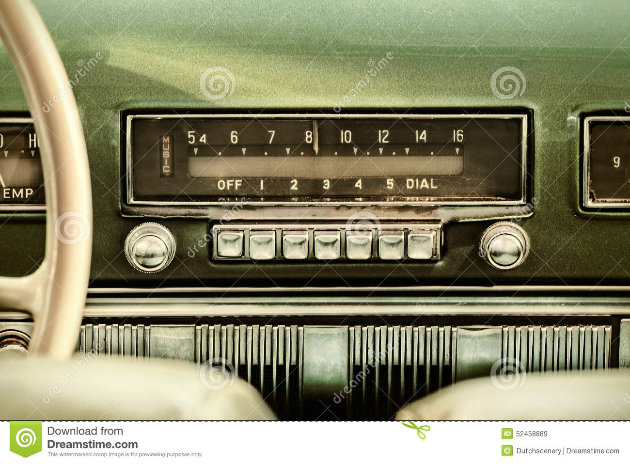 Car Stereo Wallpaper Retro Styled Image Of An Old Car Radio Stock Photo Image