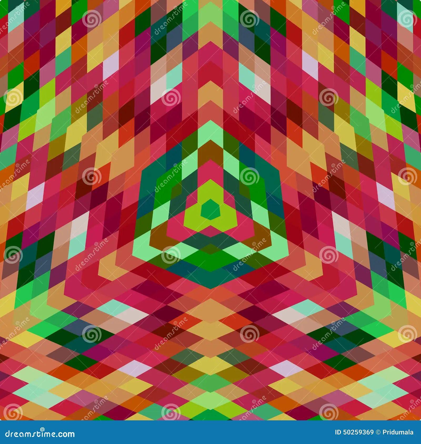 Retro vector backdrop of geometric shapes colorful mosaic
