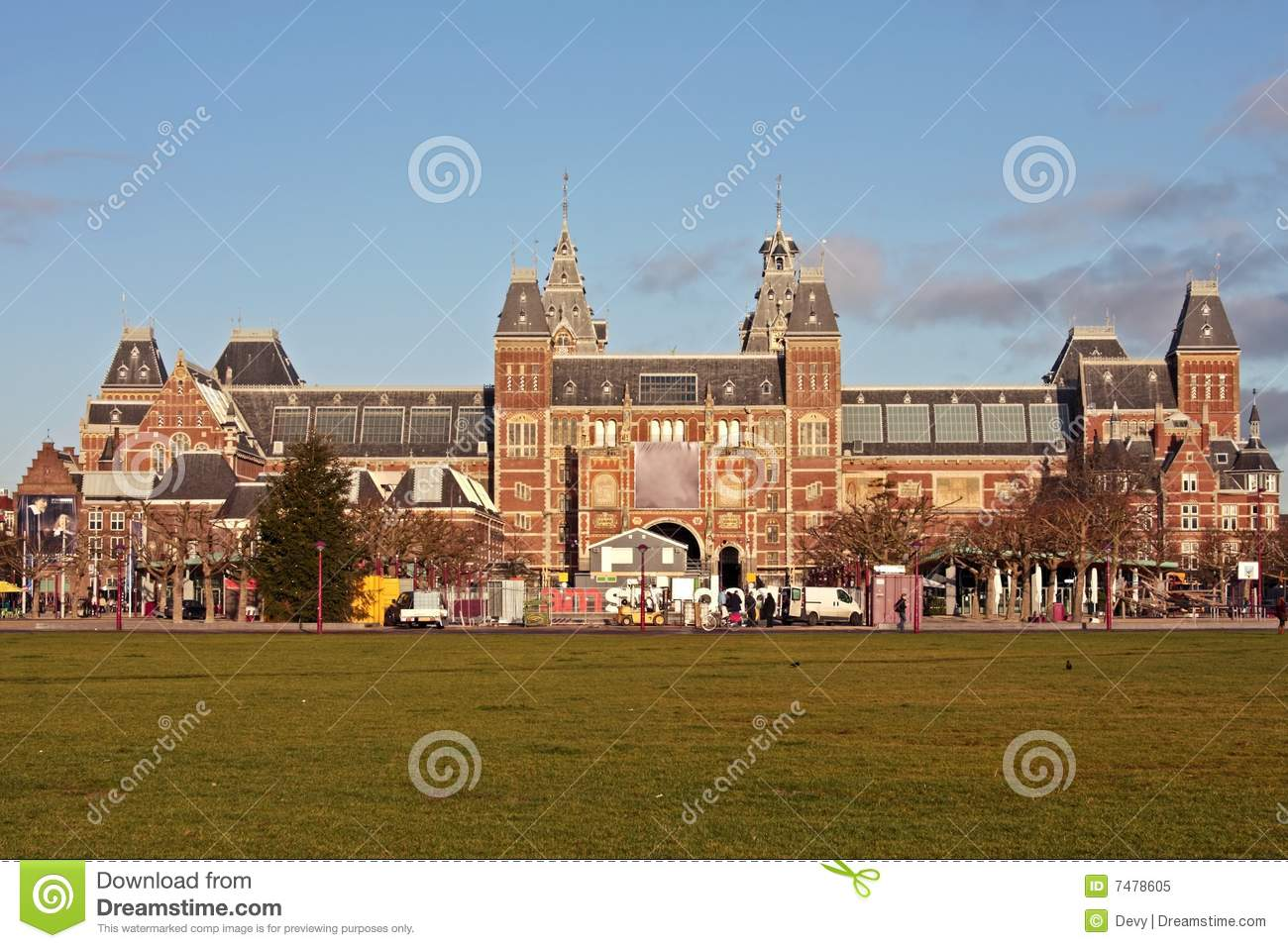 Rijksmuseum Grijs Rijksmuseum In The Netherlands Royalty Free Stock Photo
