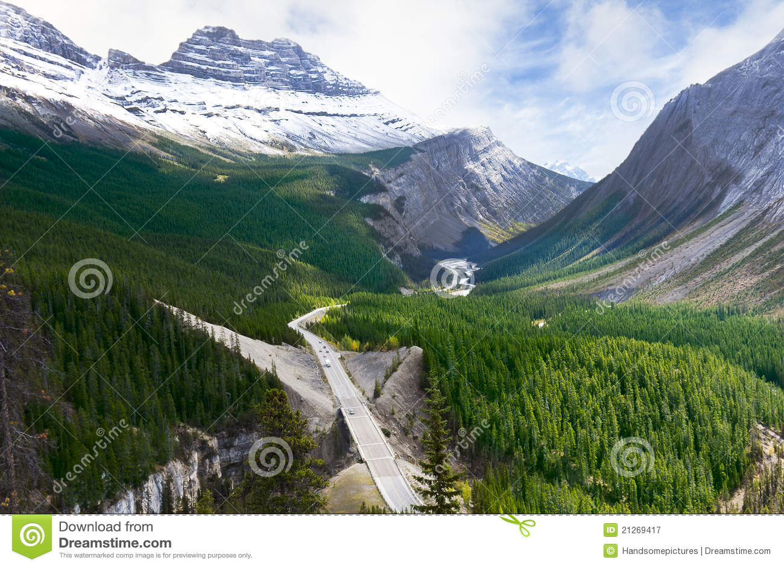 Animal Crossing Desktop Wallpaper Road Through Canadian Rockies Icefields Parkway Stock