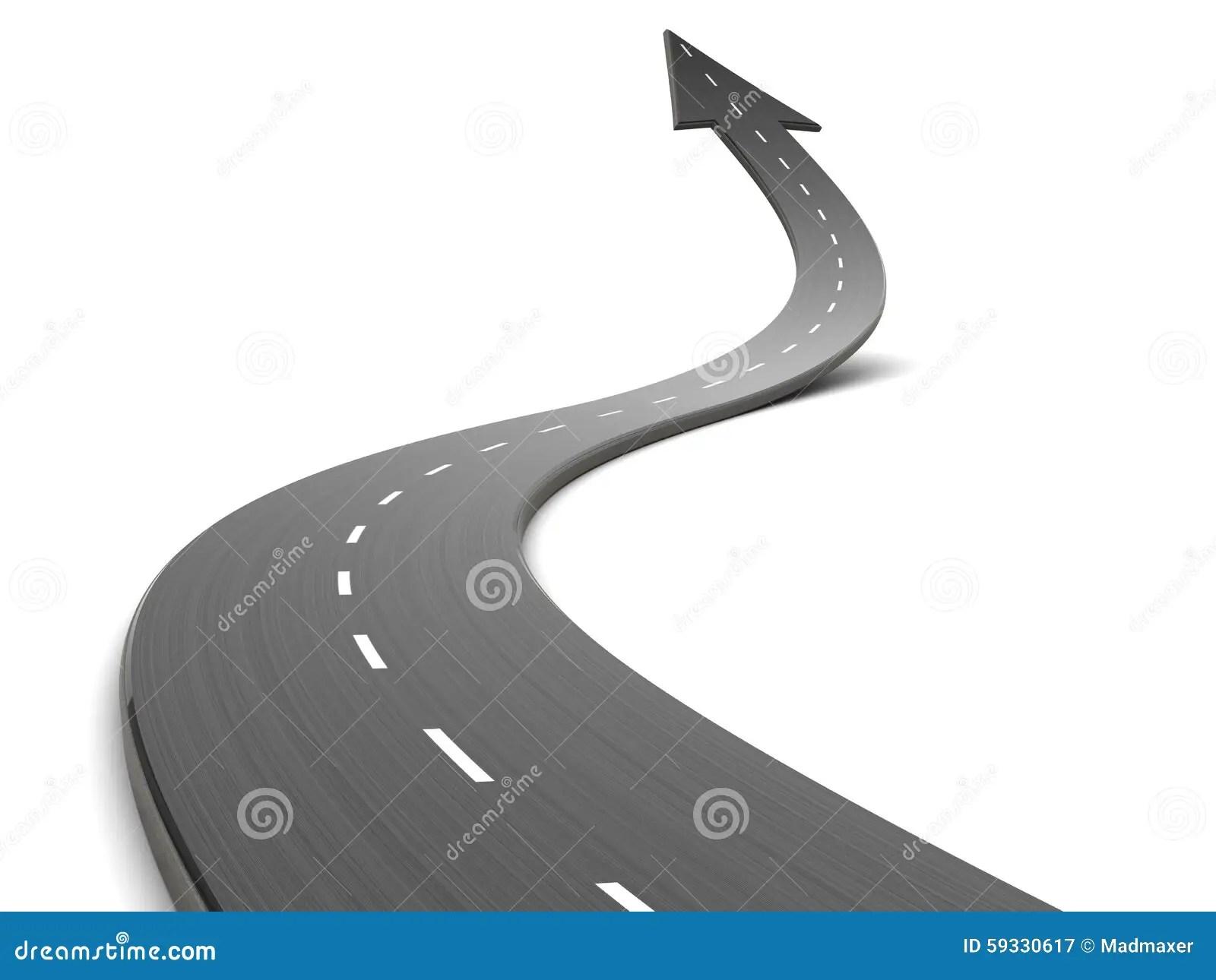 3d Curved Wallpaper Road Forward Stock Illustration Illustration Of Challenge