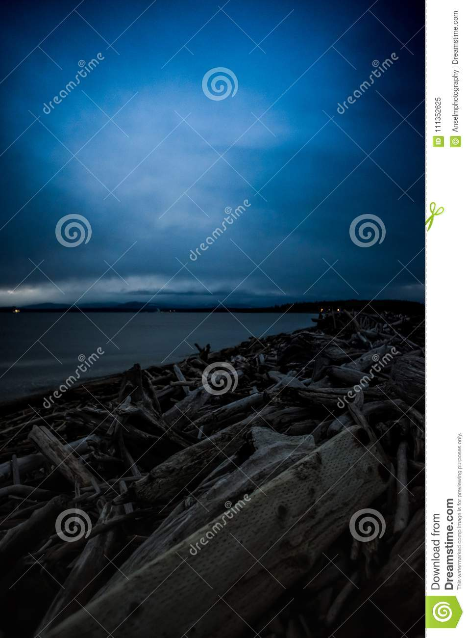 Camano Island State Park Weather Keystone Beach On A Winter Sunset Stock Image Image Of Light